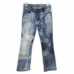 7FAM Sz 28 High Rise Tie Dye / Acid Wash Jeans